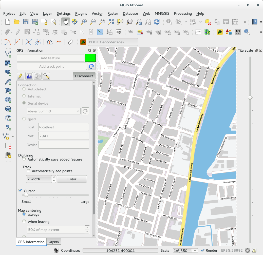 Use your GPS dongle with QGIS — Zuidt
